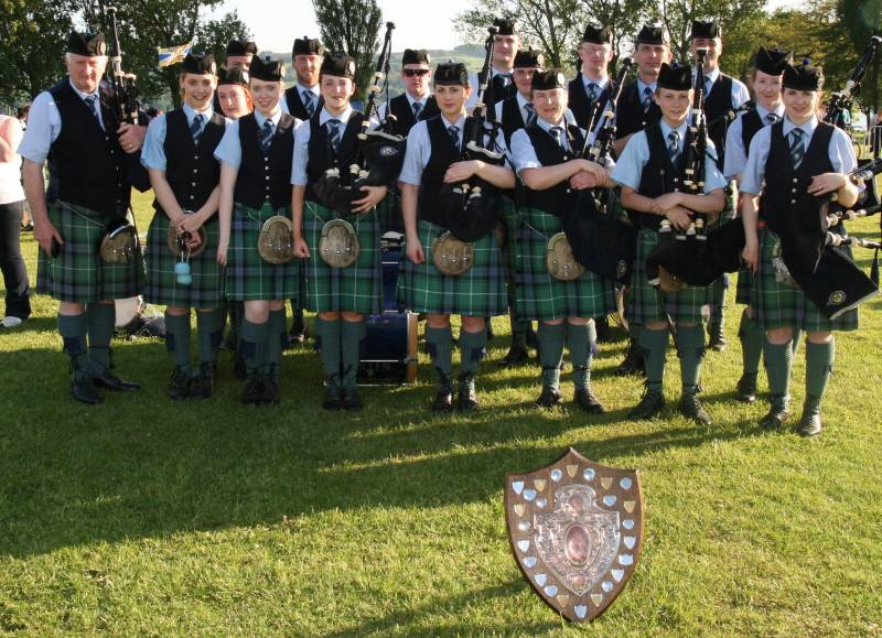 Cullen Pipe Band pictured in Dumbarton Scotland