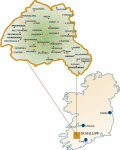 Duhallow and Sliabh Luachra Communities - Map  Coutesy of IRD Duhallow