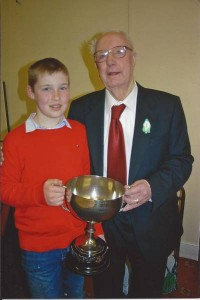 Darragh Curtin, Brosna - overall winner of Perpetual Trophy 2009 with Maurice O' Keeffe, Kiskeam